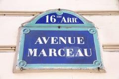 Paris avenue Stock Photos