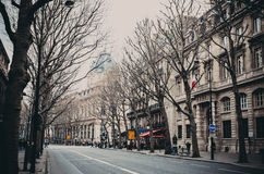 Paris Avenue, urban scene Royalty Free Stock Image