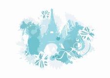 Paris azul Imagens de Stock Royalty Free