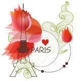 Paris background Royalty Free Stock Images