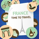 Paris background template Stock Photos