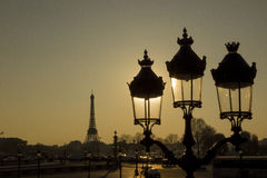 Paris backlit Royalty Free Stock Photography