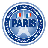 Paris badge Royalty Free Stock Photos