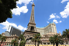 Paris and Bally's hotel. A view of both Paris and Bally's hotel and casino in Las Vegas Stock Photo