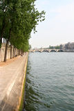 Paris, Banks of the Seine. Banks of the river Seine in Paris. Pont Royal bridge in the background stock photos