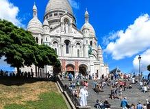 Paris- Basilica Sacre Coeur Stock Photo