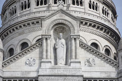 Paris. Basilica of Sacre Coeur in Montmartre. Finishing details Royalty Free Stock Image
