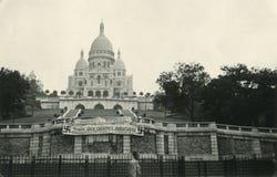 Paris basilica Sacre-Coeur from Nazi German occupation. Royalty Free Stock Photo