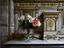 Paris: beautiful altar in Saint Germain church Royalty Free Stock Images