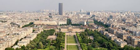 Paris beautiful places - Champ de Mars Royalty Free Stock Photo