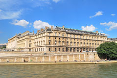 Paris. Beautiful Seine embankment Stock Photo