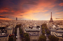 Paris. Beautiful view of Paris from above Royalty Free Stock Photo
