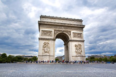 Paris. Beautiful view of the Arc de Triomphe in Paris, France Royalty Free Stock Photography