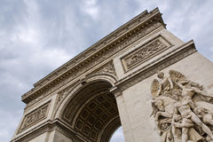 Paris. Beautiful view of the Arc de Triomphe in Paris, France Stock Photo