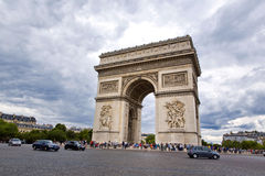 Paris. Beautiful view of the Arc de Triomphe in Paris, France Stock Photography