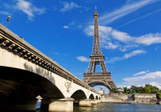 Paris. The beautiful view of the Eiffel Tower on a summer day Stock Image