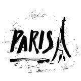Paris-Beschriftung Lizenzfreies Stockbild