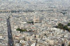 Paris-Bezirk Vogelansicht Stockfoto