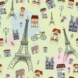paris bezszwowy deseniowy Fotografia Royalty Free