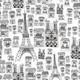 paris bezszwowy deseniowy Obraz Royalty Free