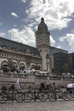 Paris. Bikes on the streets. Royalty Free Stock Photo