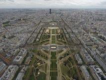 Paris bird eye view from Eiffel Tower, France. stock photo