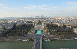 Paris bird's eye view stock photography