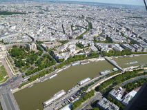 Paris bird's eye view. Paris at hand. Taken from a great height. We vydieť large chunk of the city and its beauty Stock Images