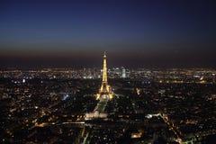 Paris bis zum Nacht Stockfotografie