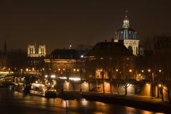 Paris bis zum Nacht Stockbild