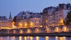 Paris bis zum Nacht, Frankreich stock footage