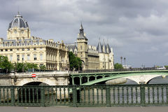 Paris, boat, river, old city, cities, attractions Culture Royalty Free Stock Images