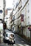 Paris Boulevard de Clichy Arkivbilder