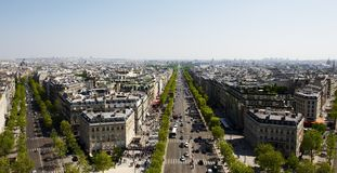 Paris Boulevards Royalty Free Stock Photos
