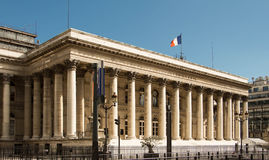 The Paris Bourse-Brongniart palace. Royalty Free Stock Photo