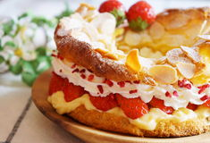 Paris-Brest, French cake Stock Photo