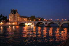 Paris bridge royalty free stock photography