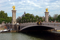 Paris - Bridge of Alexandre III Stock Photos