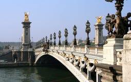 Paris. Bridge of the Concorde. The Pont de la Concorde across the Seine near the Place de la Concorde in Paris Royalty Free Stock Photography