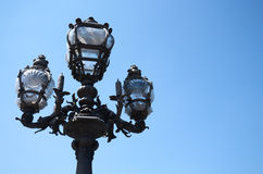 Paris bridge lamp Stock Images
