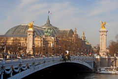 Paris. Bridge over the river royalty free stock images