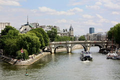 Paris Bridge over the Seine Royalty Free Stock Photos