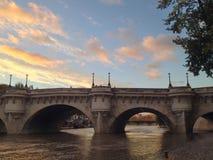Paris Bridge. Bridge at sunset in Paris, France Royalty Free Stock Image
