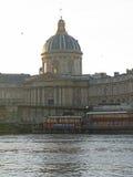 Paris building across the river Seine Stock Images