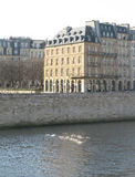 Paris building on the left bank Royalty Free Stock Photo