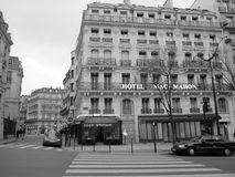 Paris buildings. Black and white France Stock Image