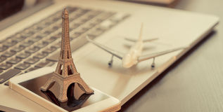 Paris business agency travel office. Concept Stock Image