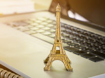 Paris Business man making a business Royalty Free Stock Photography