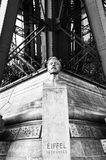 Paris. Bust of Gustave Eiffel Royalty Free Stock Photo