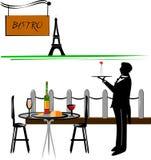Paris cafe stock illustration